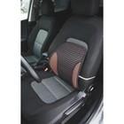 Ортопедическая спинка на сиденье усиленная со вставками, 38x39 см, черно-красная