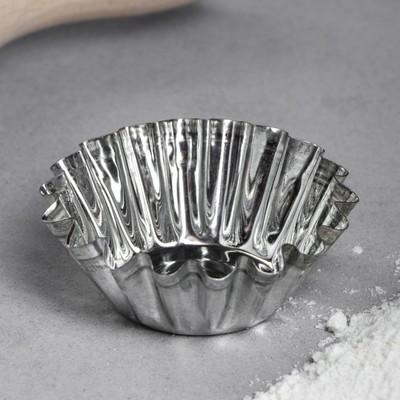 Форма для выпечки кекса, d=5,5, v=2 см - Фото 1