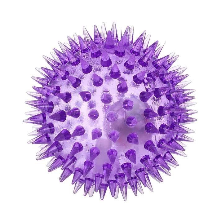Мяч Ёжик, световой, с пищалкой, цвета МИКС