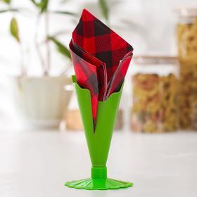 Салфетница «Листок», цвет МИКС