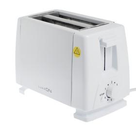 Тостер LuazON LT-03, 750 Вт, 6 режимов прожарки, 2 слота, белый Ош