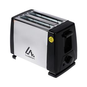 Тостер LuazON LT-03, 750 Вт, 6 режимов прожарки, 2 тоста, серебристый Ош