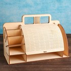 Органайзер деревянный 13×30×20 см с крышкой