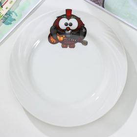 Тарелка мелкая «Совушки», d=17,5 см, рисунок МИКС