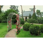 Арка садовая, 220 × 150 × 65 см, пластик, белая, «Большая Ладога»