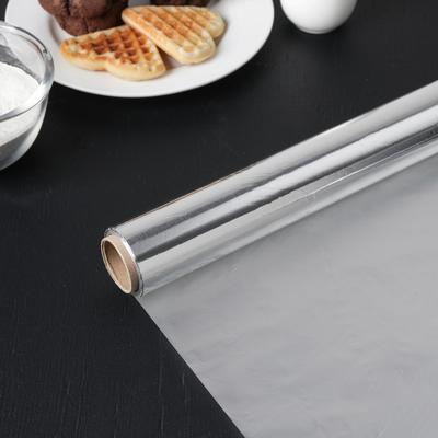 Фольга алюминиевая бытовая «Саянская. Особо прочная», ширина 29 см, 14 мкм, рулон 50 м - Фото 1