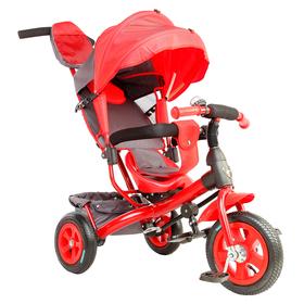 Велосипед трёхколёсный «Лучик Vivat 1», надувные колёса 10'/8', цвет красный Ош