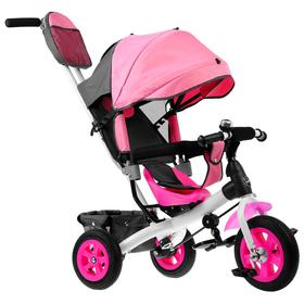 Велосипед трёхколёсный «Лучик Vivat 1», надувные колёса 10'/8', цвет розовый Ош
