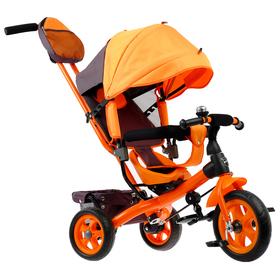Велосипед трёхколёсный «Лучик Vivat 2», колёса EVA 10'/8', цвет оранжевый Ош