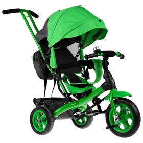 Велосипед трёхколёсный «Лучик Vivat 2», колёса EVA 10'/8', цвет зелёный Ош