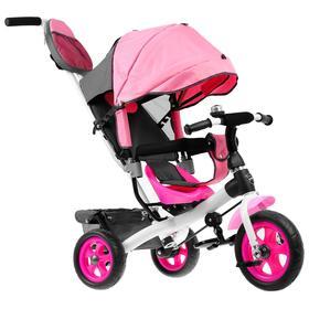 Велосипед трёхколёсный «Лучик Vivat 2», колёса EVA 10'/8', цвет розовый Ош