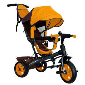 Велосипед трёхколёсный «Лучик Vivat 2», колёса EVA 10'/8', цвет коричневый/жёлтый Ош