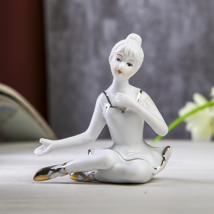 Сувенир Балерина золотистый