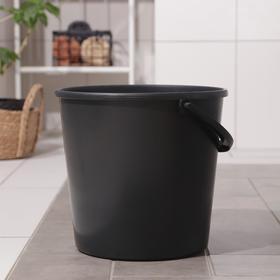 Ведро хозяйственное с мерной шкалой ЕлПласт, 12л, цвет чёрный Ош