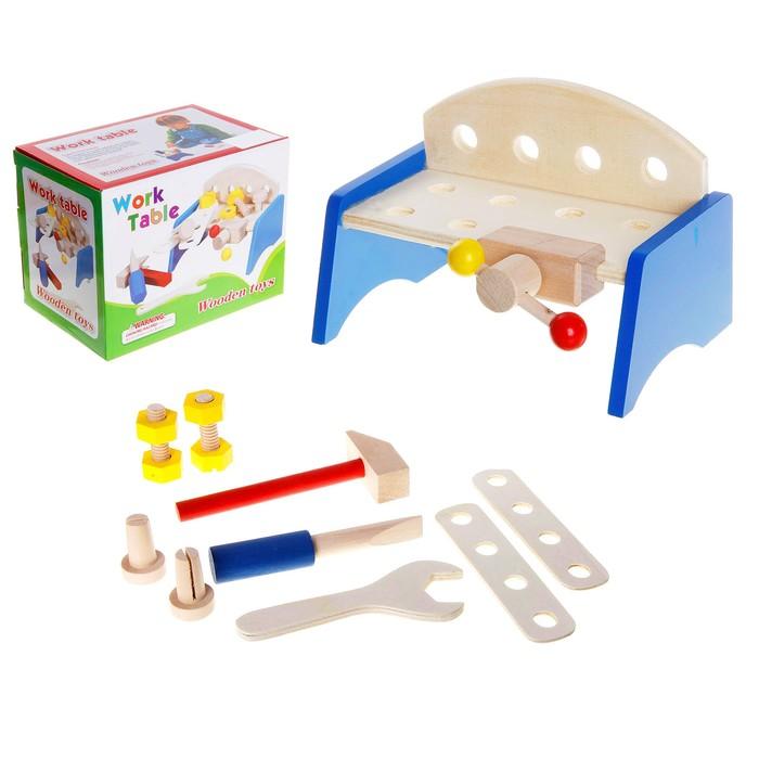 Верстак с набором инструментов, 9 предметов