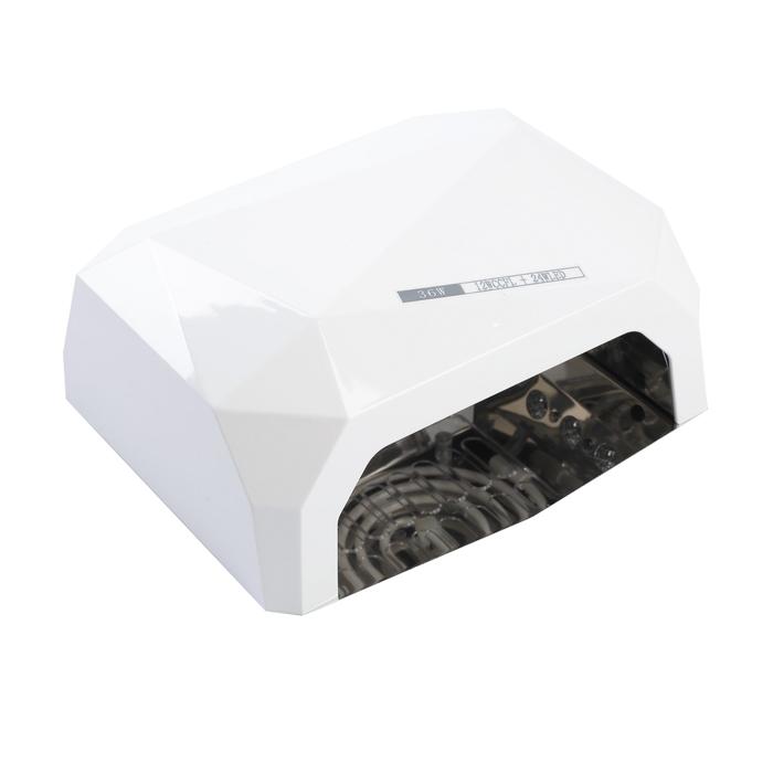Лампа для гель-лака LuazON LUF-06, CCFL-LED, 36 Вт, 12 диодов, таймер 10/30/60 сек, белая