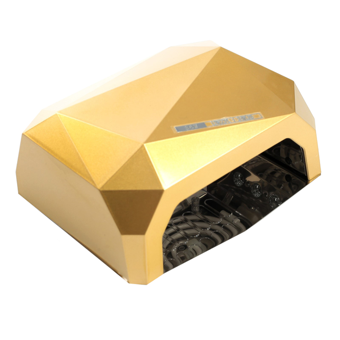 Лампа для гель-лака LuazON LUF-06, CCFL-LED, 36 Вт, 12 диодов, таймер 10/30/60 сек, желтая