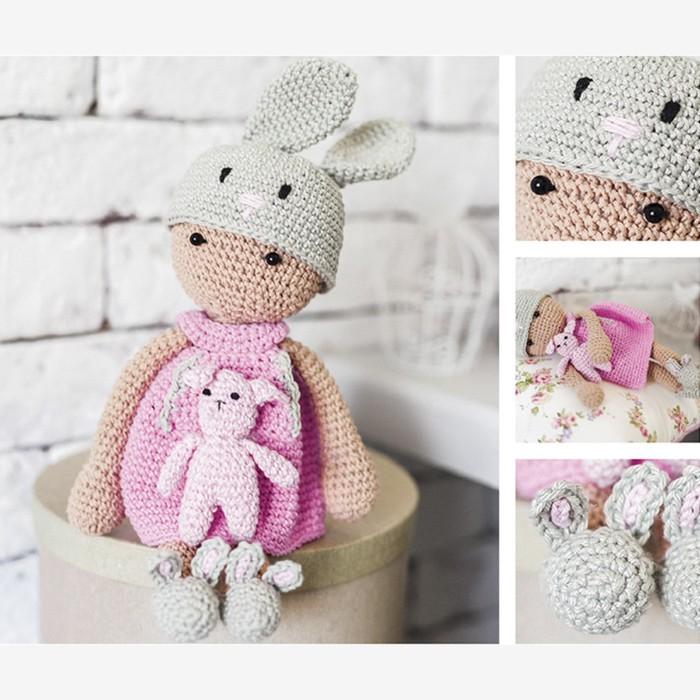 Амигуруми: Мягкая игрушка «Девочка Мила», набор для вязания, 10 × 4 × 14 см