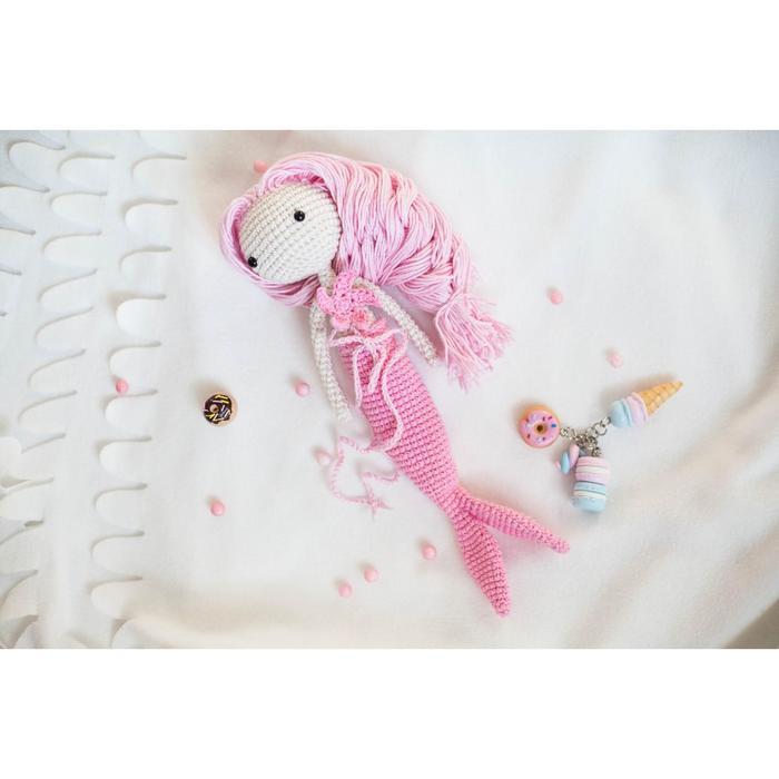Амигуруми: Мягкая игрушка «Девочка Русалочка», набор для вязания, 10 × 4 × 14 см