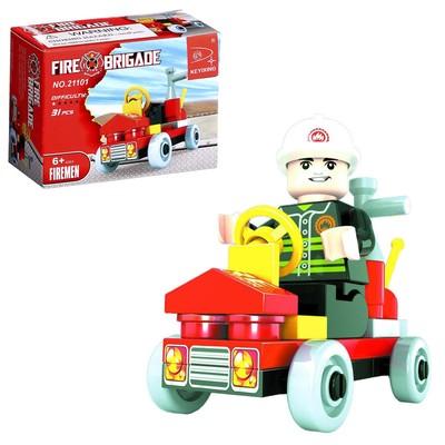 Конструктор «Пожарная бригада», 31 деталь