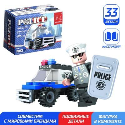 Конструктор «Полицейский джип», 33 детали