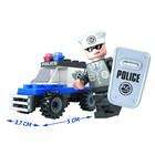 Конструктор «Полицейский джип», 33 детали - Фото 2