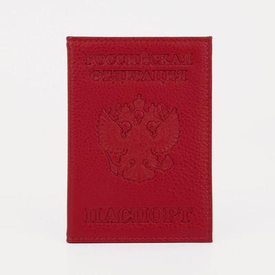 Обложка для паспорта, цвет красный - Фото 1