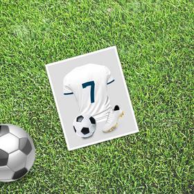 Открытка мини–формата одинарная «Знаменитость», футбол, 9 х 10 см Ош