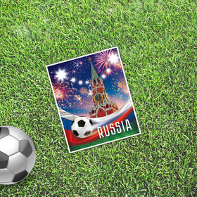 Открытка мини–формата одинарная «Москва», футбол, 9 х 10 см Ош