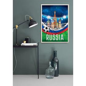 Постер «Москва», футбол, А4 21 х 29 см Ош