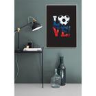 Постер «Люблю футбол», А4 21 х 29 см