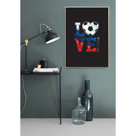 Постер «Люблю футбол», А4 21 х 29 см Ош