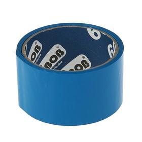 Клейкая лента упаковочная 48 мм х 24 м, 45 мкм UNIBOB (синяя) Ош
