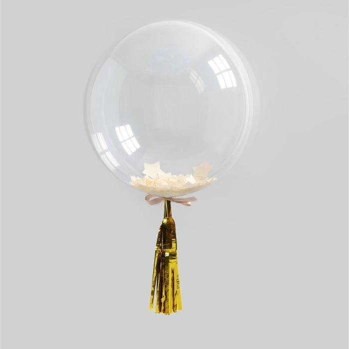 Гирлянда для шара, 30 см, фольга, цвет золотой
