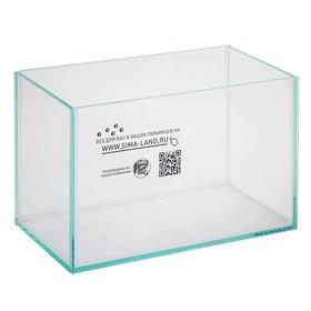 Аквариум прямоугольный без крышки, 5 литров, 25 х 13 х 15,5 см
