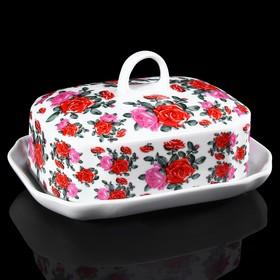 Маслёнка «Розы», 18х13х11 см