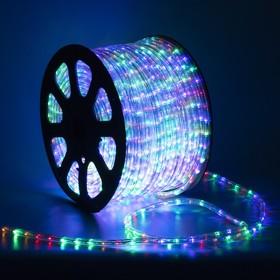 LED шнур 13 мм, круглый, 100 м, фиксинг, 2W-LED/м-36-220V. в компл. набор д/подкл, МУЛЬТИ Ош