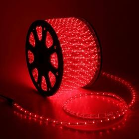 LED шнур 13 мм, круглый, 100 м, чейзинг, 3W-LED/м-36-220V. в компл. набор д/подкл. КРАСНЫЙ Ош