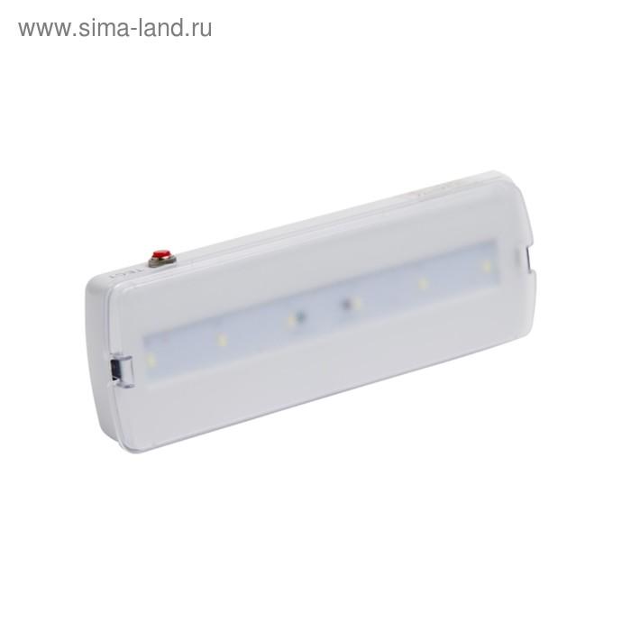 Светильник аварийный Pelastus, 5 Вт, батарея 3.6 В, 1.8А/ч, время работы 180мин, PL EML 1.0   346485