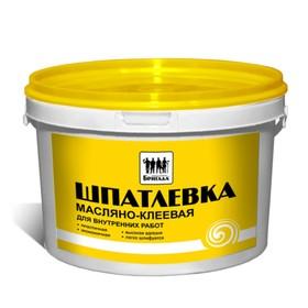Шпатлевка масляно-клеевая, для внутренних работ «Бригада» 1кг Ош
