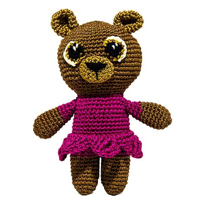 """Набор для вязания игрушки """"Мишка в платьешке Машуня"""" 15х11 см"""