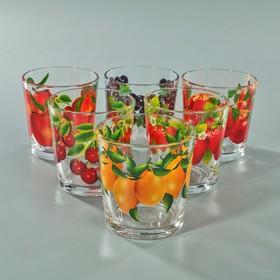 """Набор стаканов 210 мл """"Фруктово-ягодный микс"""", для коктейля, 6 шт, МИКС"""