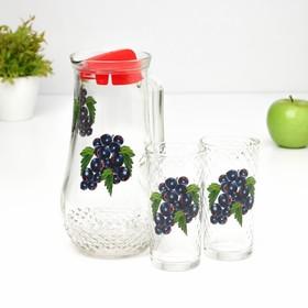 Набор питьевой 'Фруктово-ягодный микс', 3 предмета: кувшин 1,7 л, 2 стакана 230 мл, МИКС Ош
