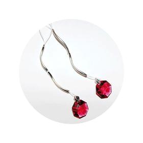 Украшение для груди Me Seduce с кристаллами Swarovski, красно-серебристое