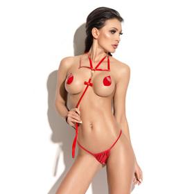 Поводок Me Seduce Queen of hearts Bonita, красный, размер OS