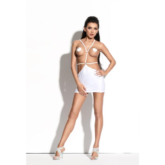 Платье Me Seduce Queen of hearts Roxana, wetlook, белое, размер S/M