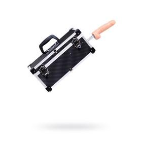 Секс-машина чемодан Diva Tool Box, 2 сменные насадки, цвет чёрный, 41 см