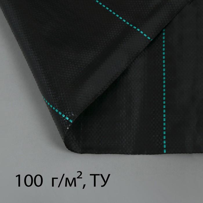 Агроткань застилочная, с разметкой, 5 × 1,8 м, плотность 100 г/м², полипропилен, чёрная