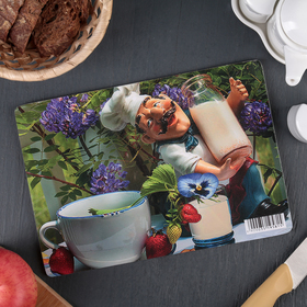 Доска разделочная «Молочник Густаво», 23×16×0,6 см