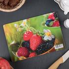 Доска разделочная «Ведёрко с ягодами», 25×16,5×0,6 см